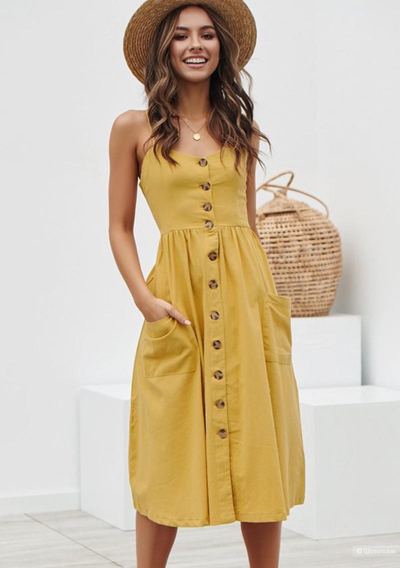 Летнее платье BEFORW, размер L.