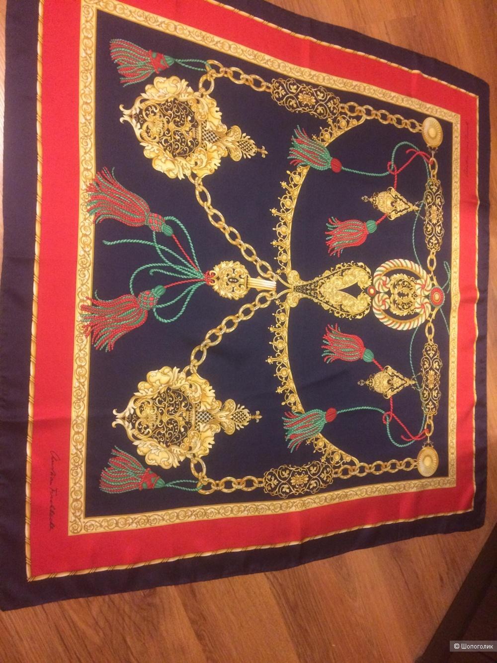 Именной шелковый платок Christian Fischbacher 87х87