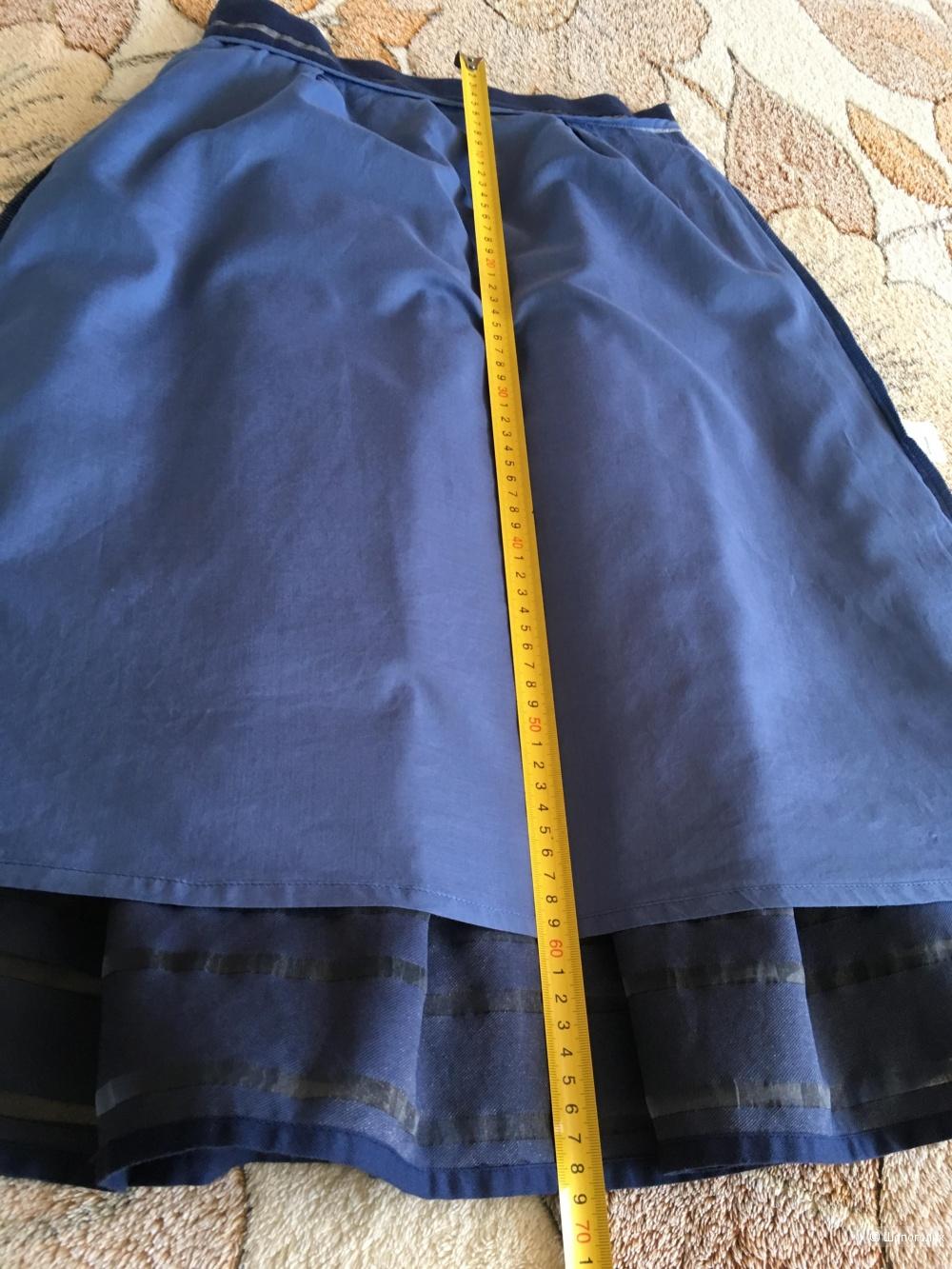 Юбка, Calista, 44 российский размер, (синяя)