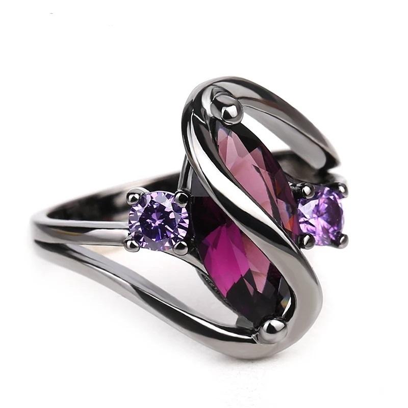 Кольцо из черненного металла, размер 7