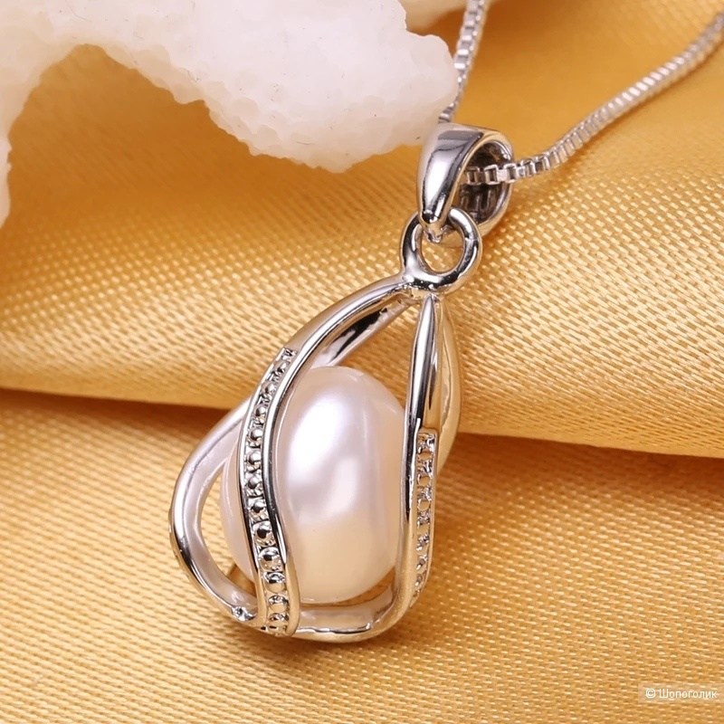 Подвеска из серебра с жемчугом