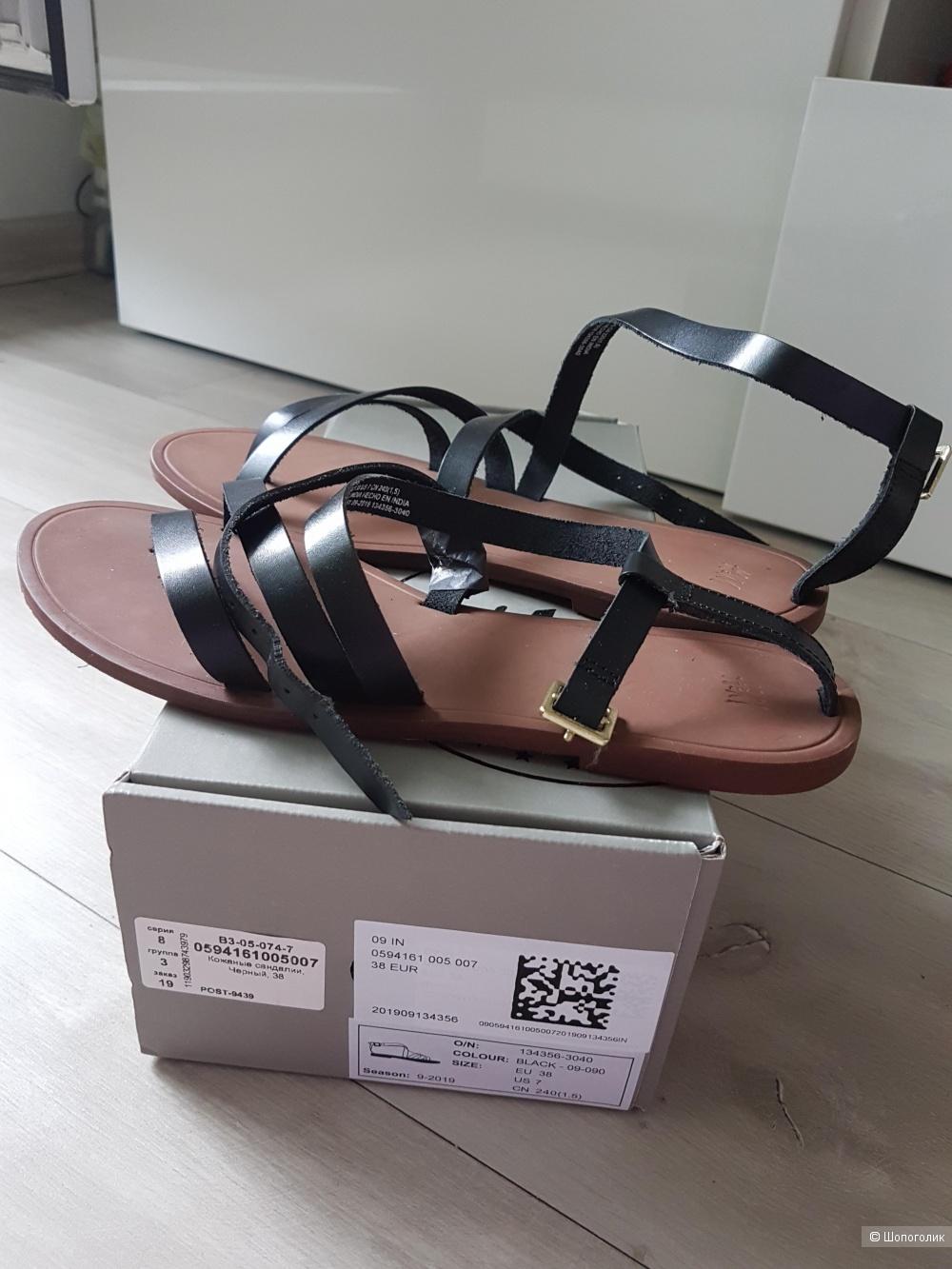 Кожаные сандалии H&M, 38 размер