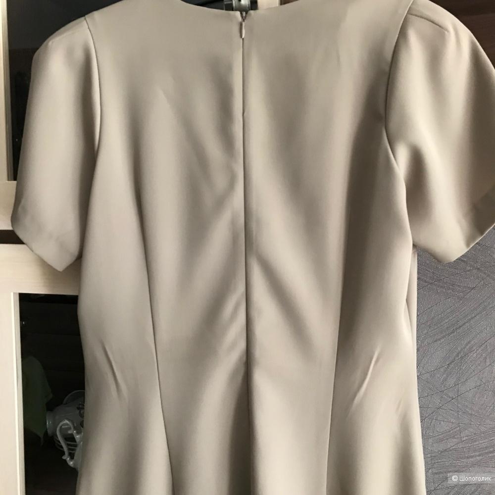 Платье GLANCE бежевое с ремнем 164-92-100 (46). Дизайнер Лизунов.