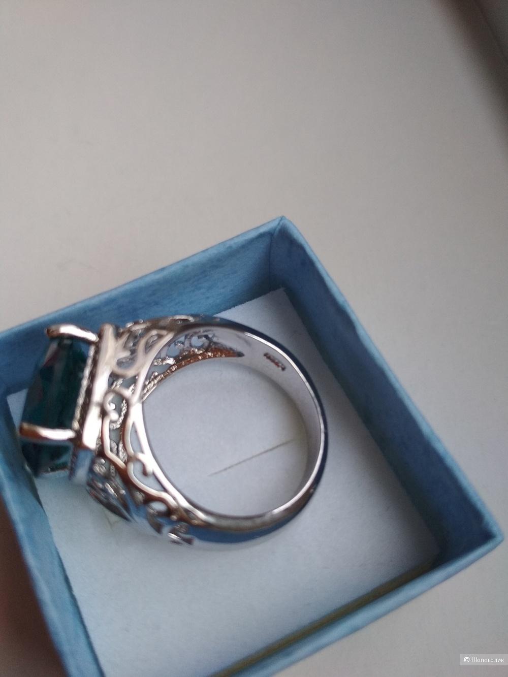 Кольцо с бирюзовым камнем, размер 8