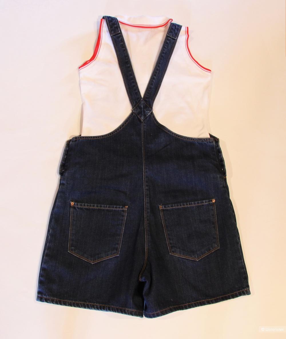 Комплект: комбинезон PULL&BEAR размер М/L и футболка-поло Bosco Sport размер S/M
