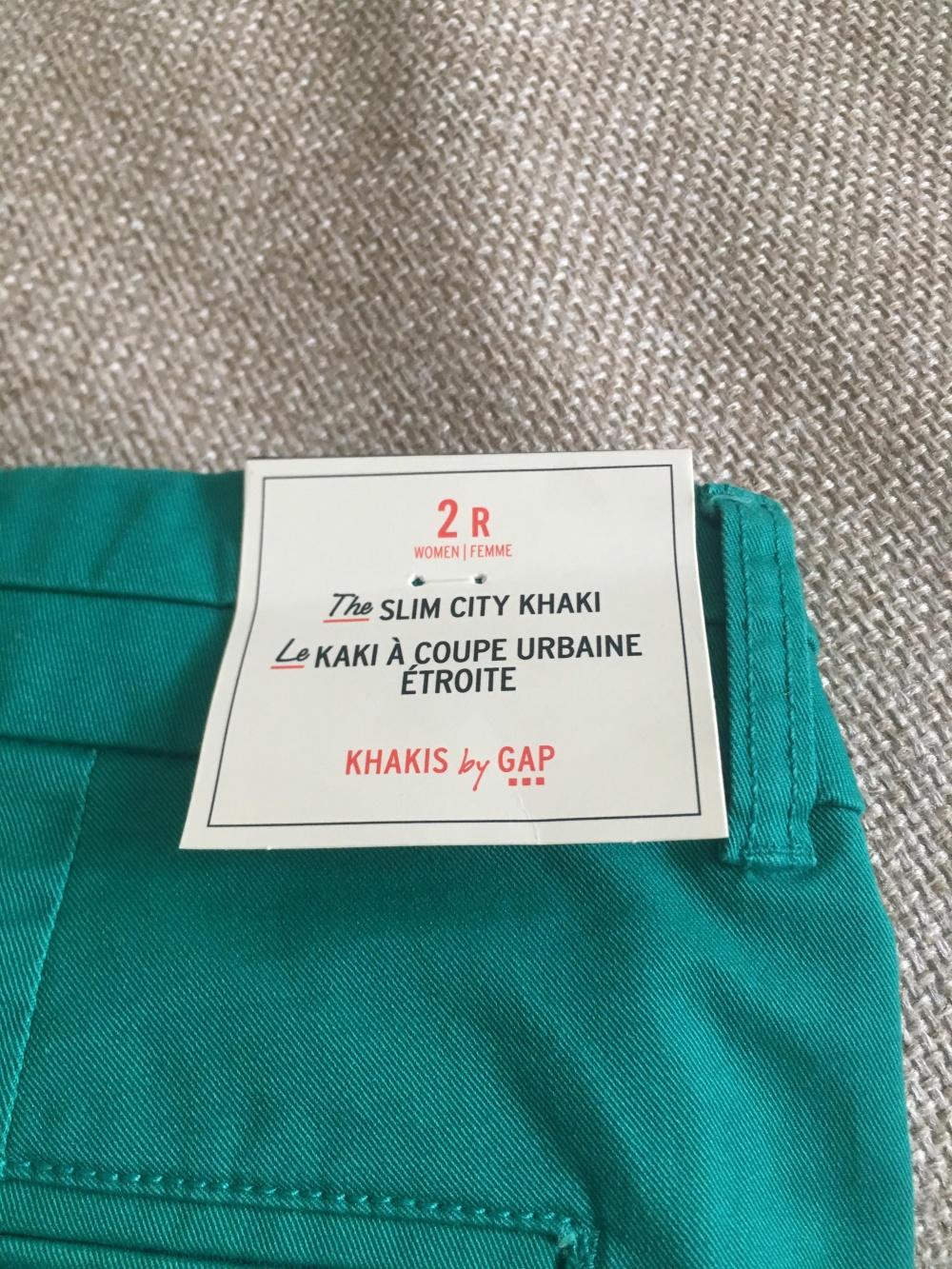 Брюки GAP Slim city khaki р-р 2 reg (42 рус)