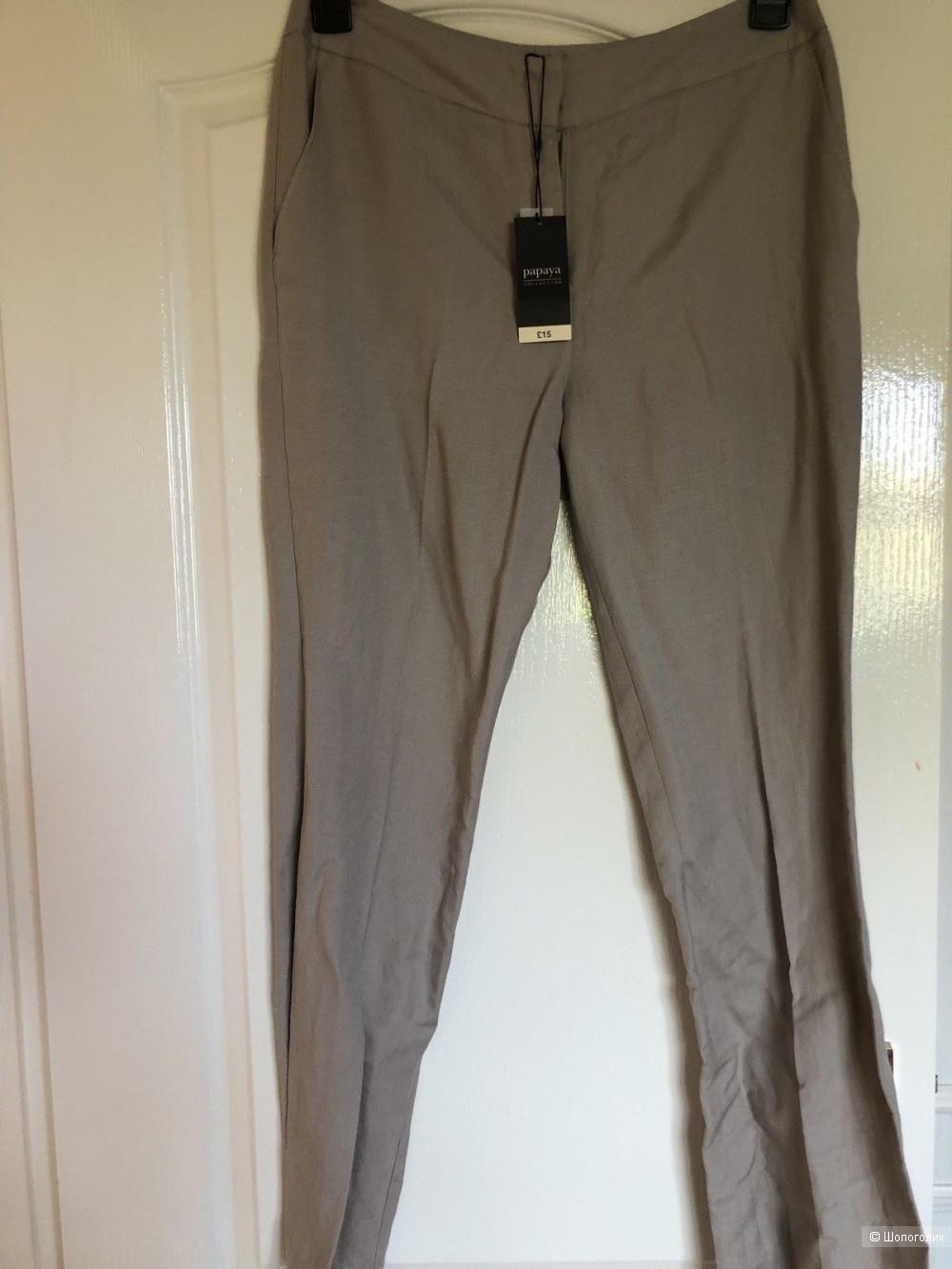 Льняные брюки PAPAYA, 12 английский размер.