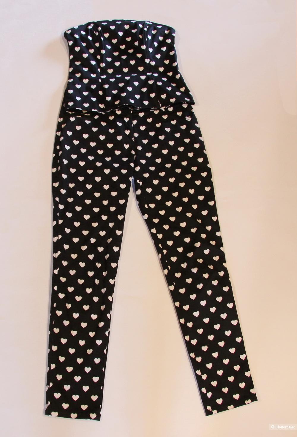 Костюм Armani Jeans (топ/корсет + брюки) размер 42-44(S)