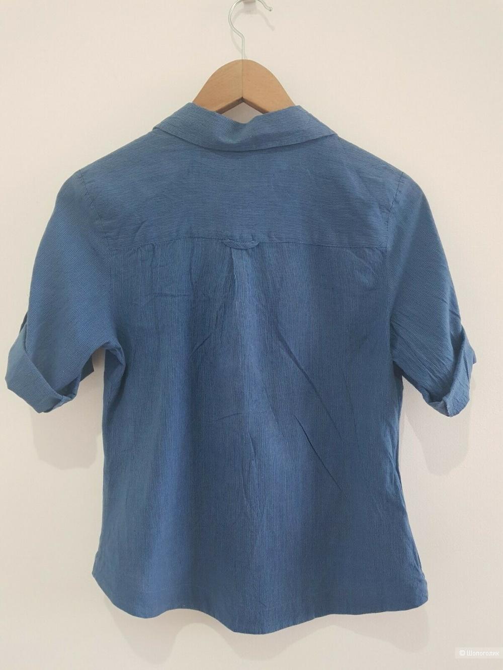 Блузка-рубашка из тонкого  хлопка, размер М, но маломерит.