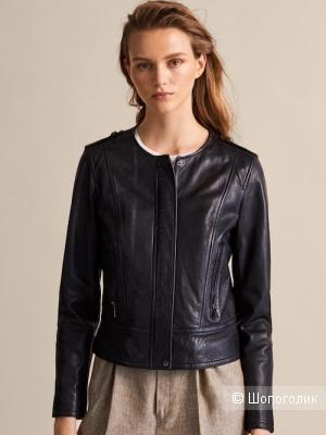 Кожаная куртка Massimo Dutti S