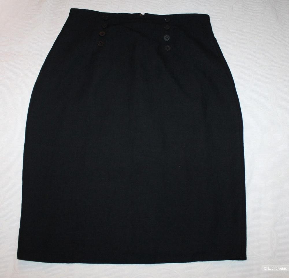 Льняная юбка-карандаш Young styl, размер 38, рос. 46-48