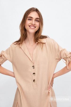 Льняное платье ZARA, размер оверсайз