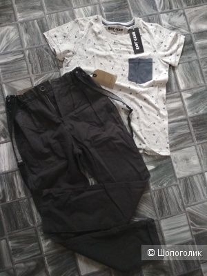 Сет брюки zara 11/12 и футболка riot club 9/10 лет