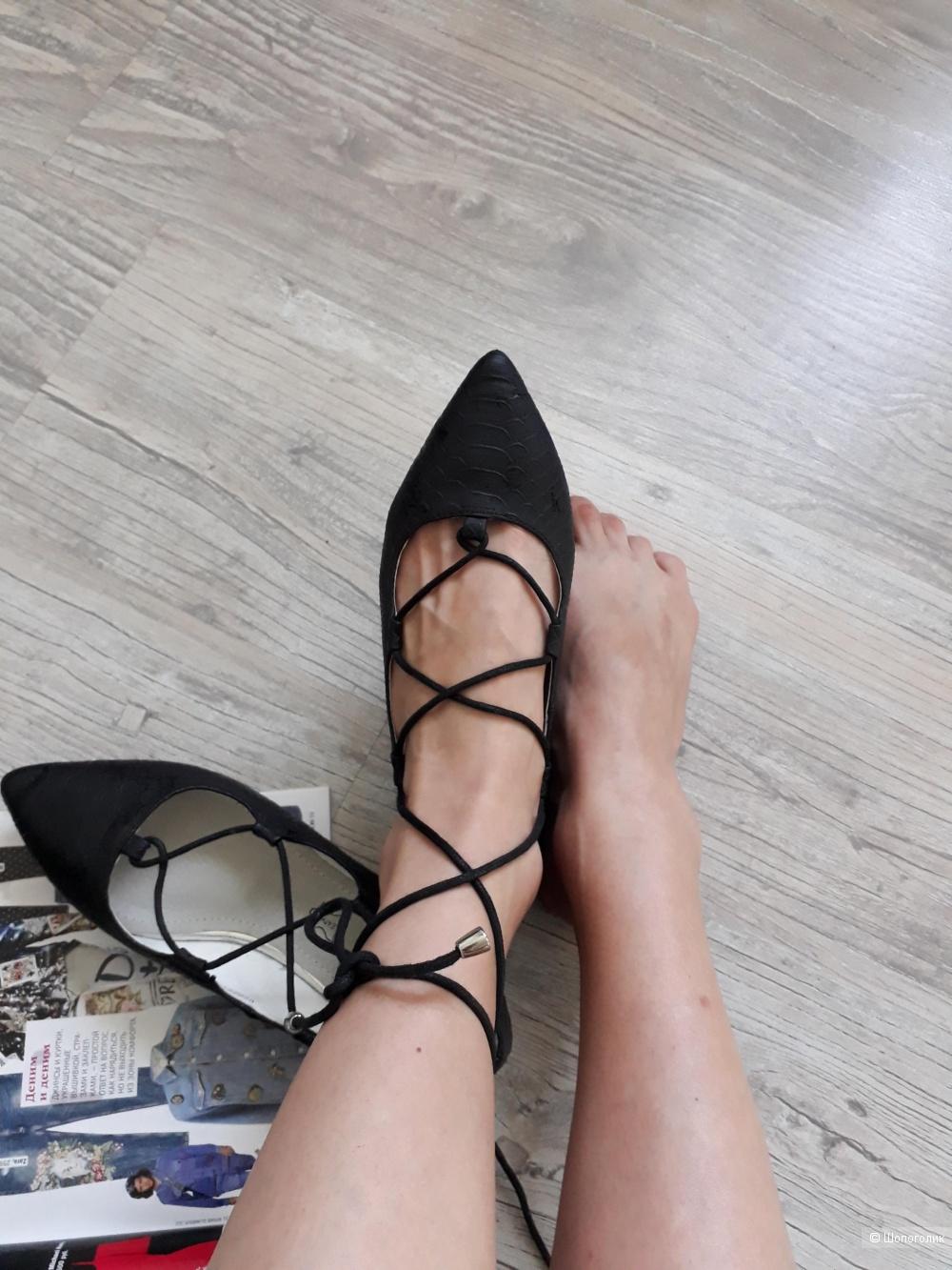 Балетки на шнуровке, 35,5