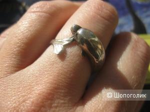 """Серебряное кольцо """"Дельфин"""""""