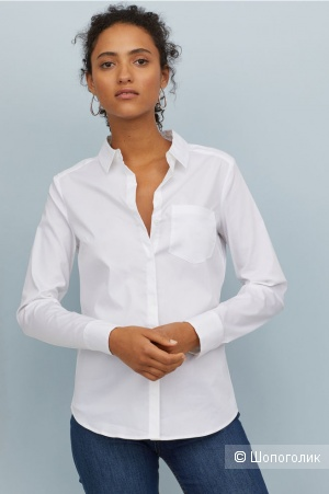Рубашка H&M,размер 40 EUR/ 44-46 рус.