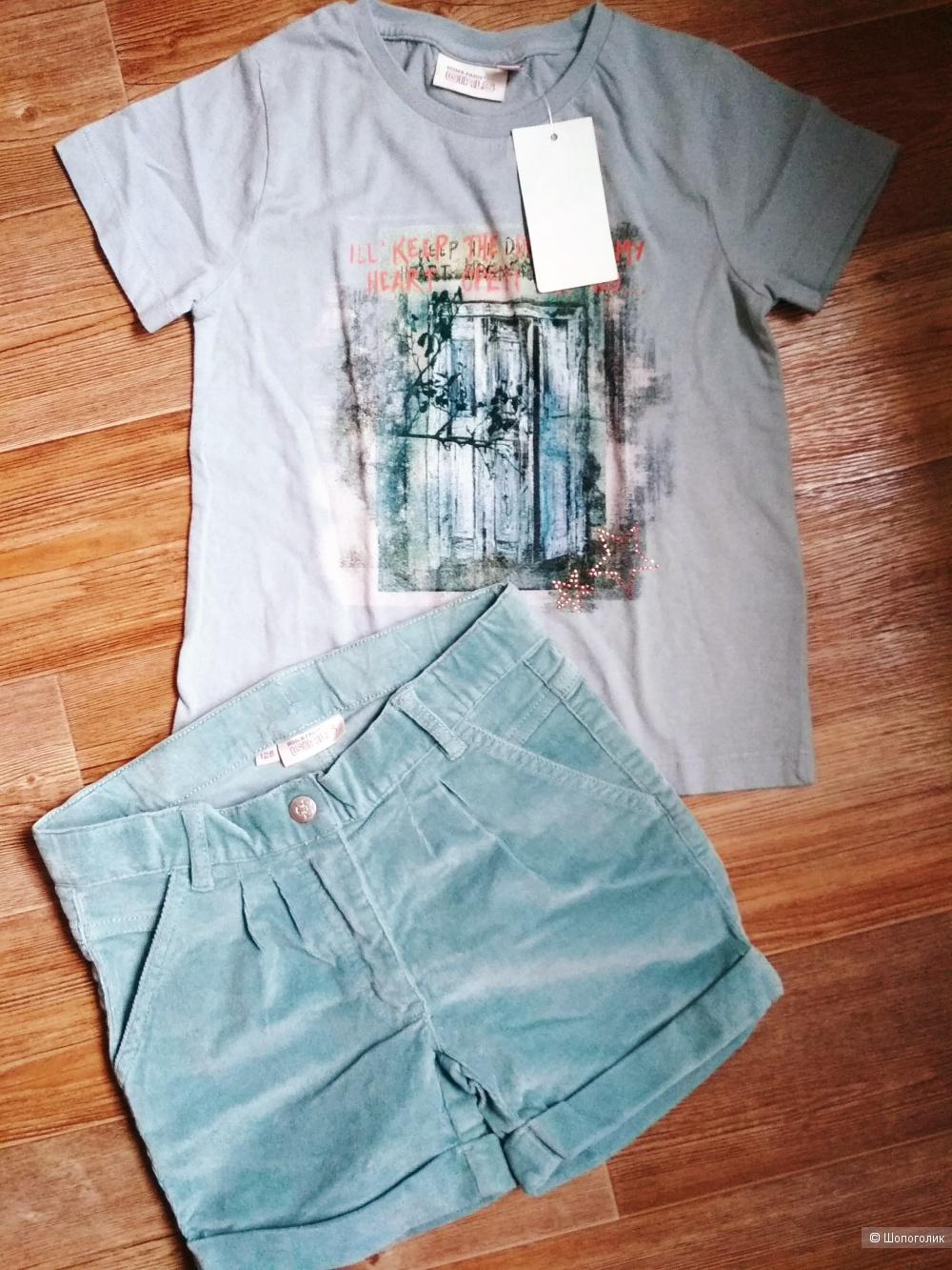 Сет шорты и футболка bon'a parte размер 122/128