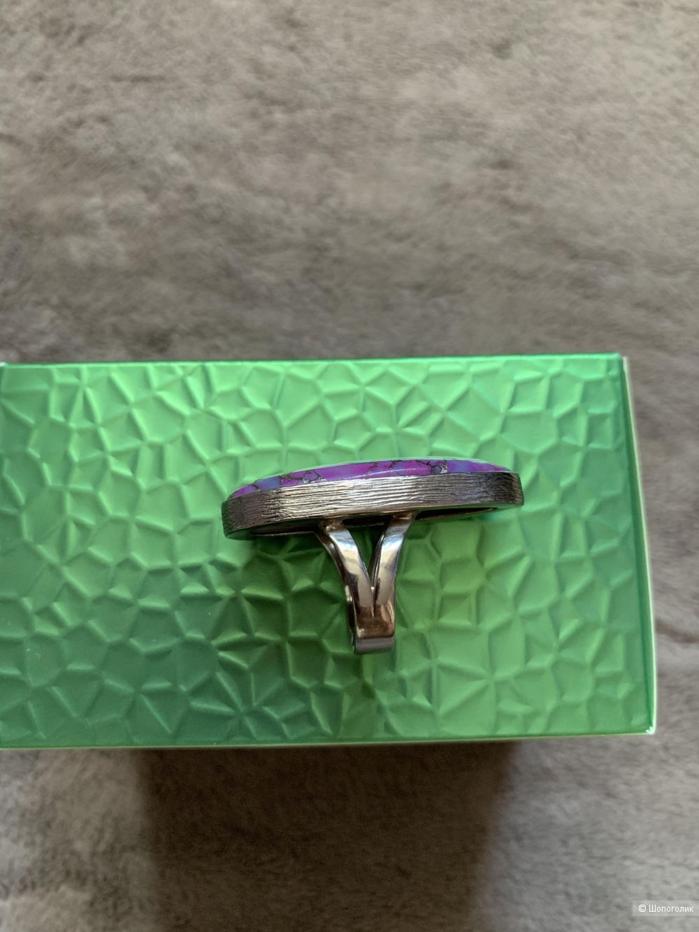 Кольцо с варисцитом Nina Ford размер 17