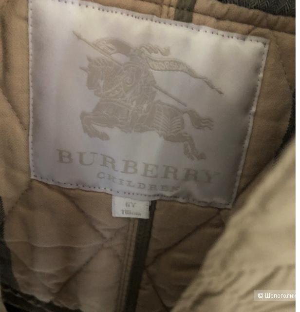 Детское стёганное пальто Burberry на девочку 122-128 см (5-6 лет)