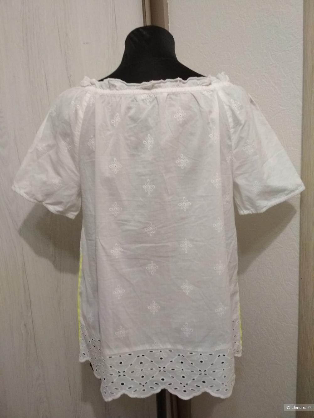 Хлопковая блуза с шитьем Cecil, р. 44-46