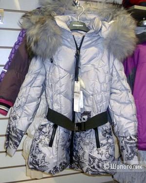 Пуховое пальто De Salitto на девочку р.128-140