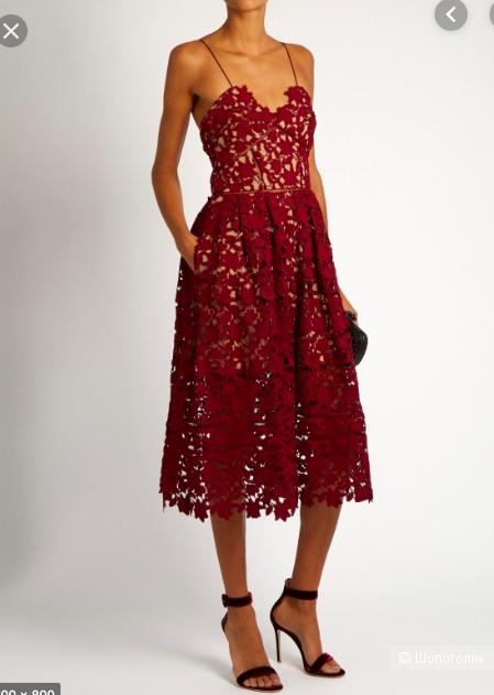 Платье миди Self-Portrait, классическая модель Azaelea, UK 8, US 4