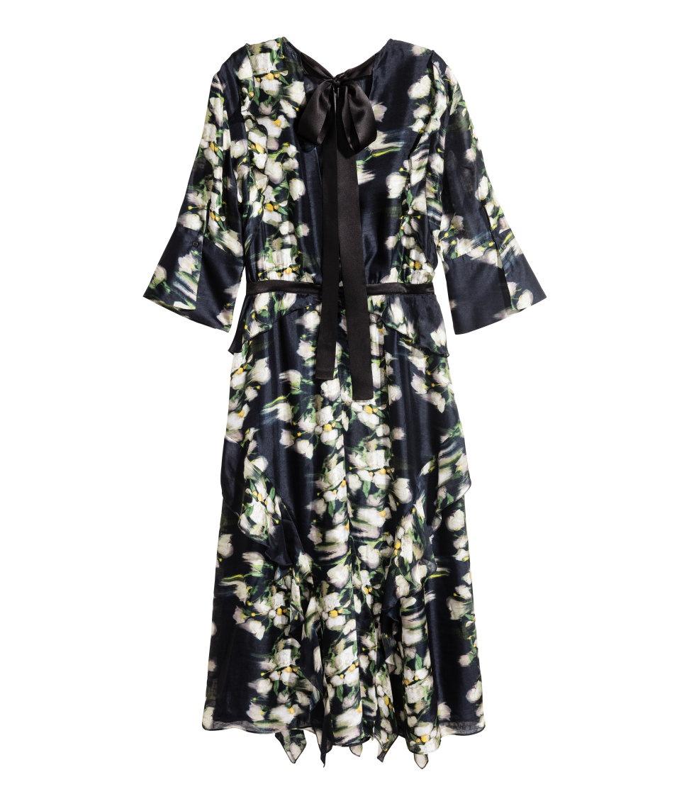 Шелковое платье H&M Conscious 34