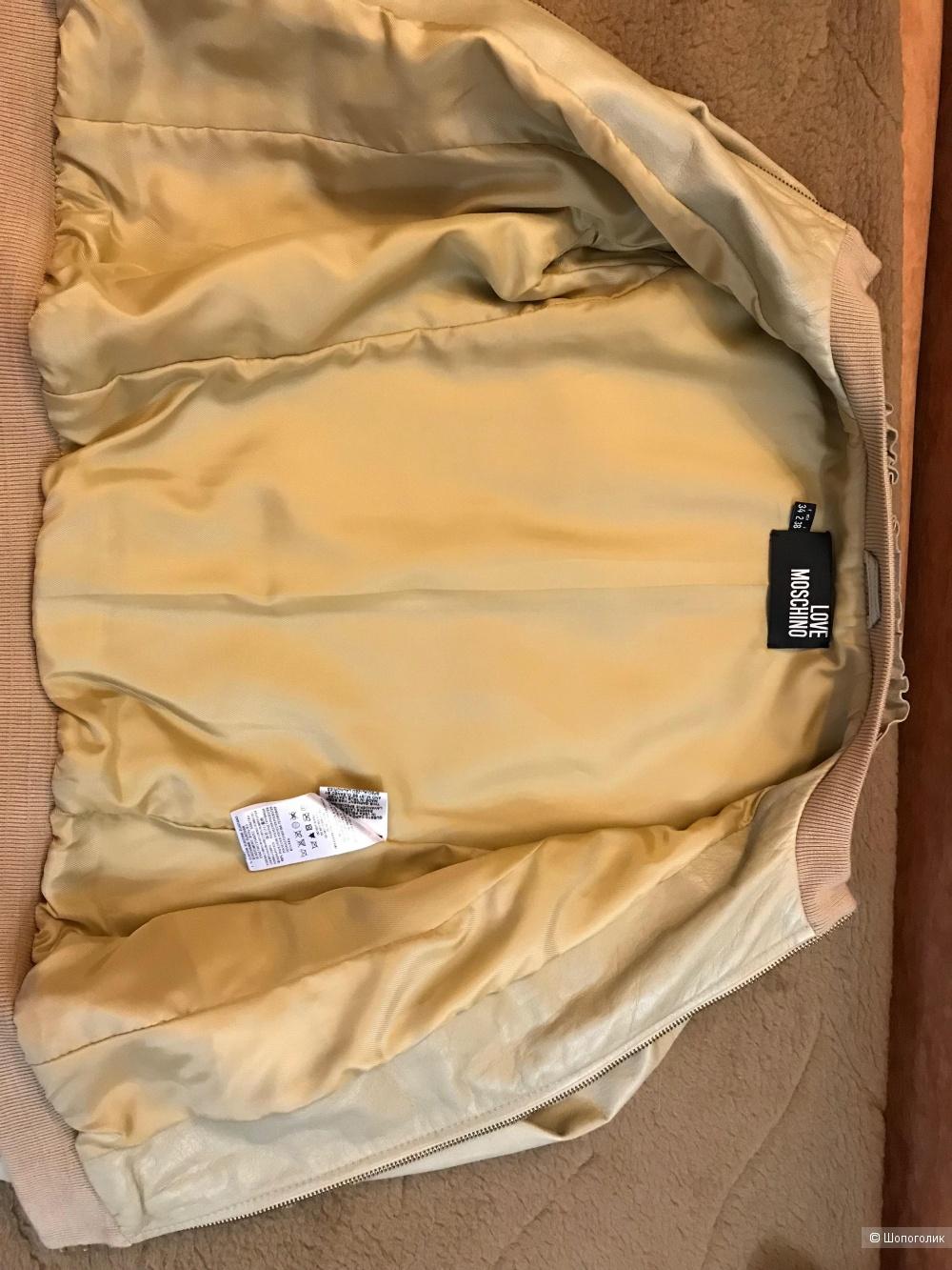 Куртка бомбер кожаный 38 IT (xs ) Love Moschino