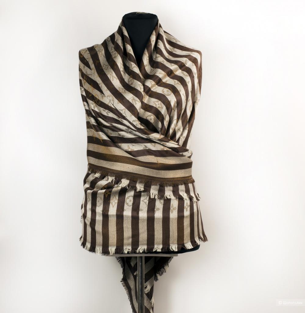 Шаль/платок Louis Vuitton, stripe, 140*140 см.