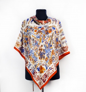 Шаль-платок женский - Hermes, 110*110 см.