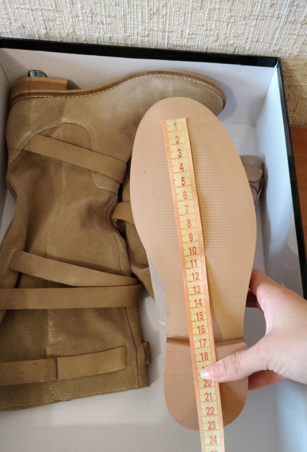 Бежевые сапоги от бренда ASOS размер 35-36