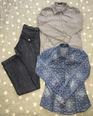 Сет джинсы Emporio Armani, размер S+Рубашка Guess, размер S+Рубашка Autograph, размер S