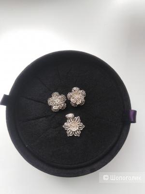 Сет из серебряных украшений (мальтийская филигрань)