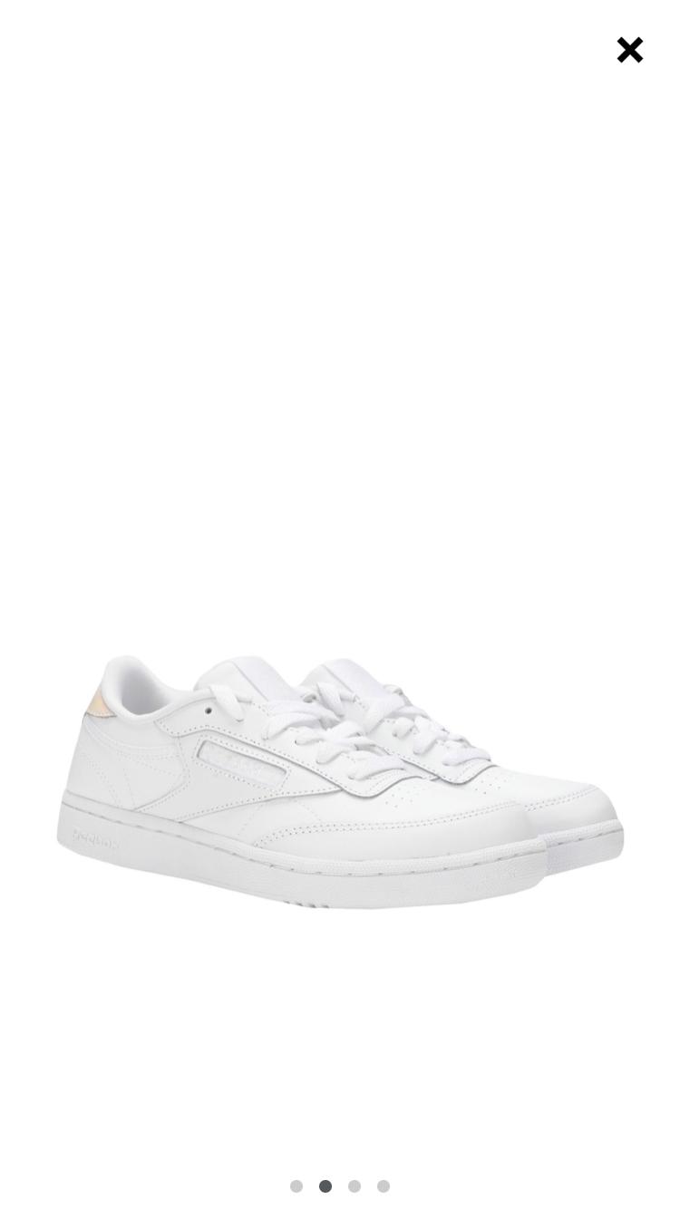 Кросовки женские  белые Reebok CLUB C, 38 размер