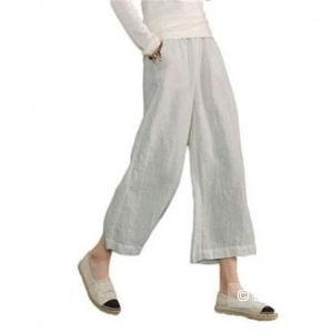 Льняные брюки палаццо, размер 46-48
