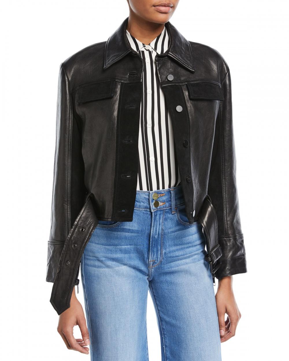 Кожаная куртка Frame размер S