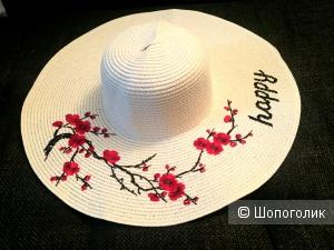 Соломенная шляпа Happy размер one size
