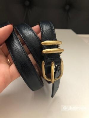 Кожаный ремень с брелком Coach размер L