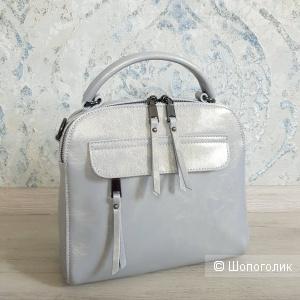 Сумка-рюкзак трансформер (серо-голубой)