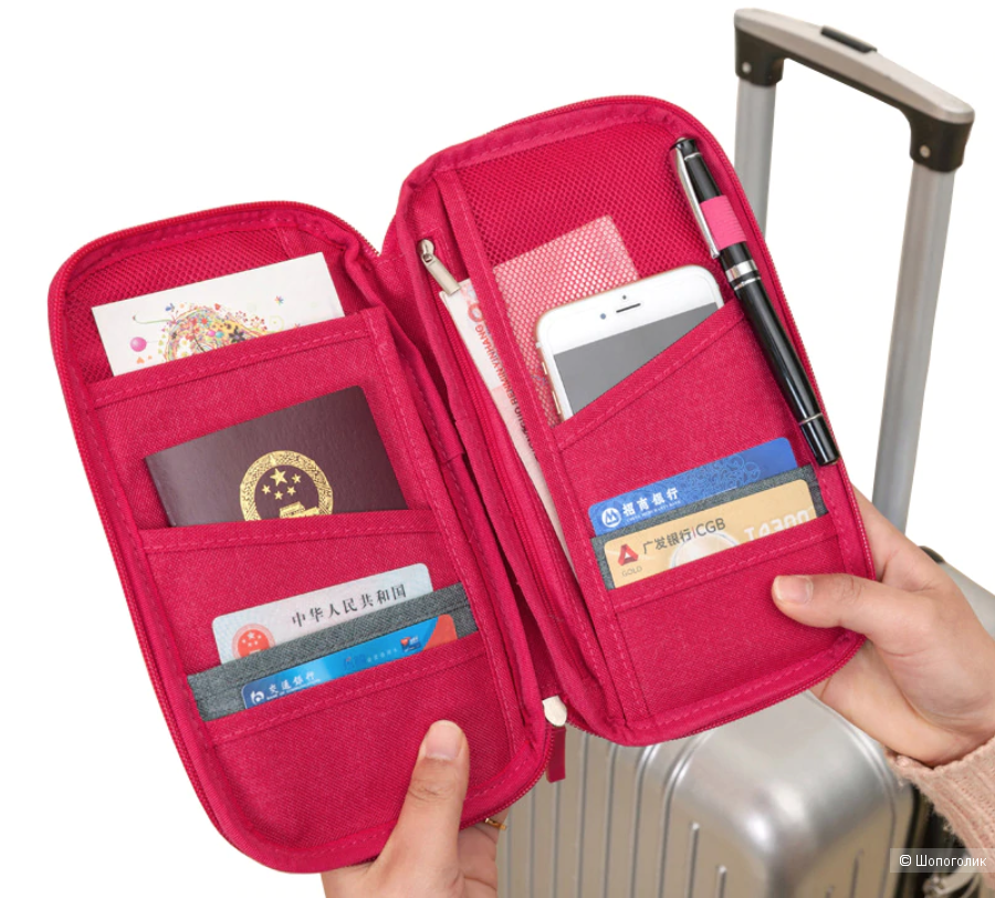 Органайзер для документов в путешествиях