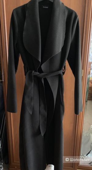 Пальто халат черное Boohoo размер S/M