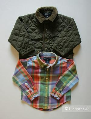 Комплект детских вещей: куртка и рубашка Polo by Ralph Lauren на 1,5-2 года