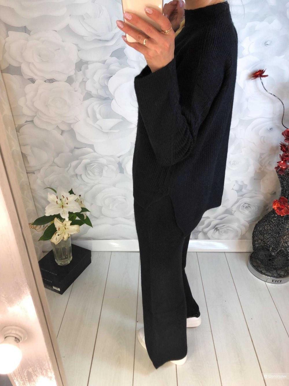 Вязаный спортивный костюм свободного кроя 42-48 размер