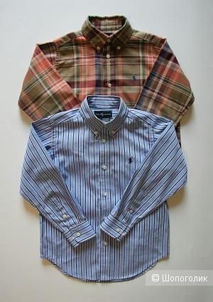 Комплект детских вещей: 2 рубашки Ralph Lauren на 5-6 лет