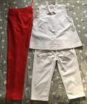 Комплект брюки no name,размер S+Топ Next, размер S/M+Бермуды Phard, размер S