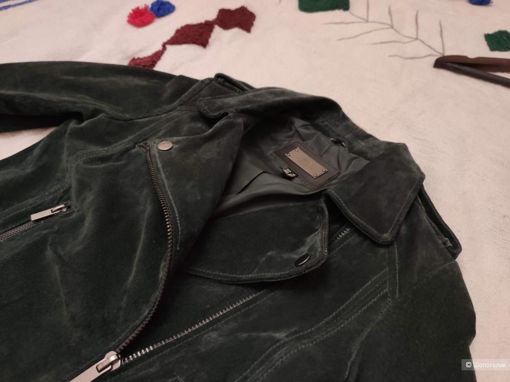 Замшевая байкерская куртка Mango XS-S