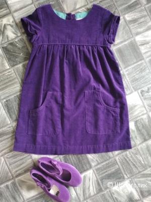Сет платье mini Boden +туфли zy размер 6-7 лет/30 размер