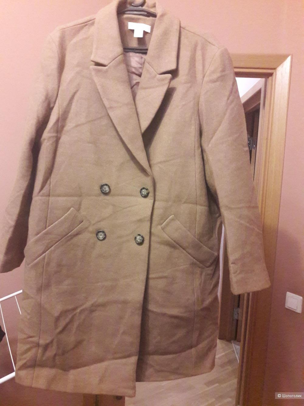 Шерстяное пальто wool blend for H&m 46-48 размера