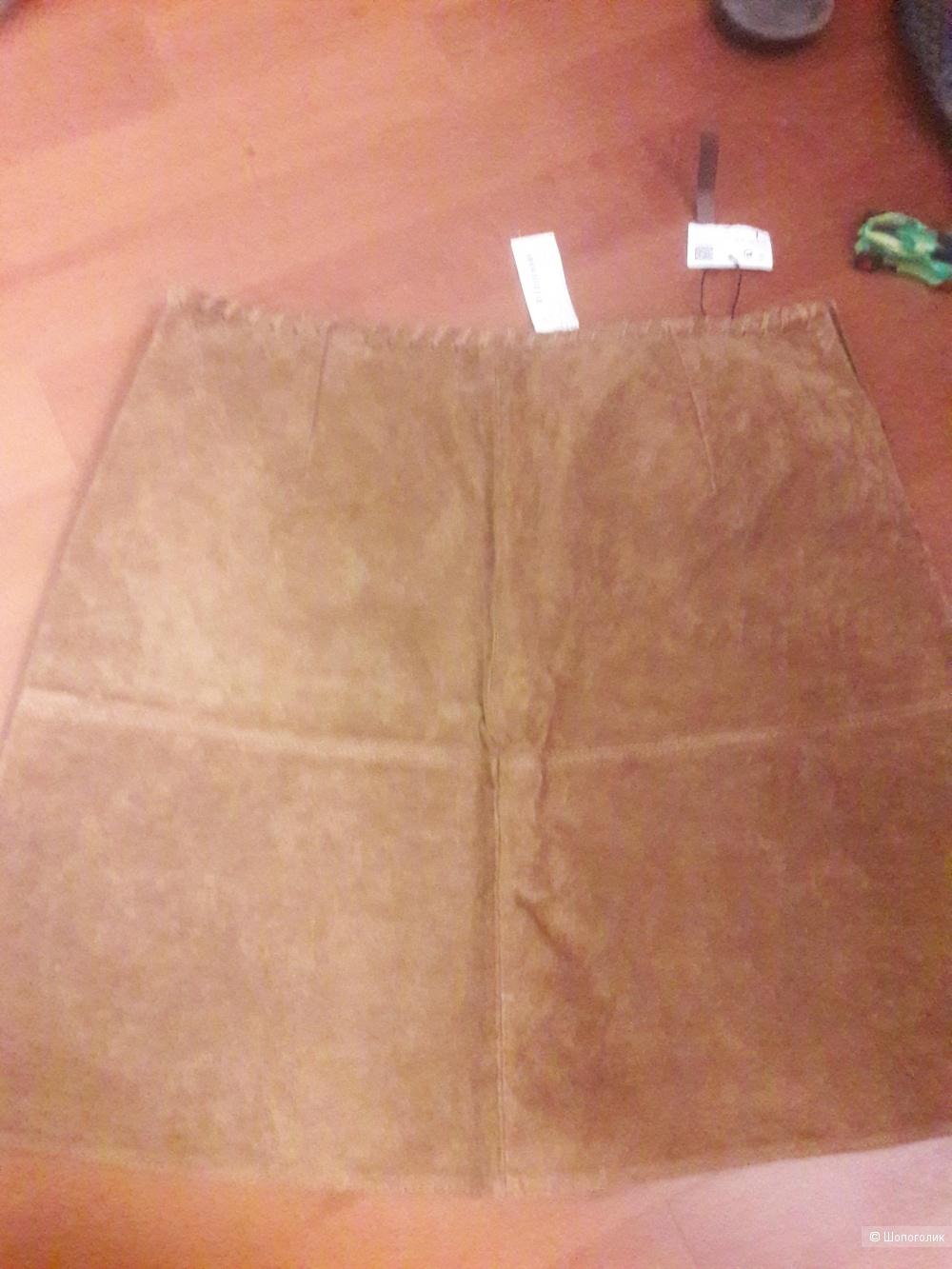 Замшевая юбка Zara размер L 30