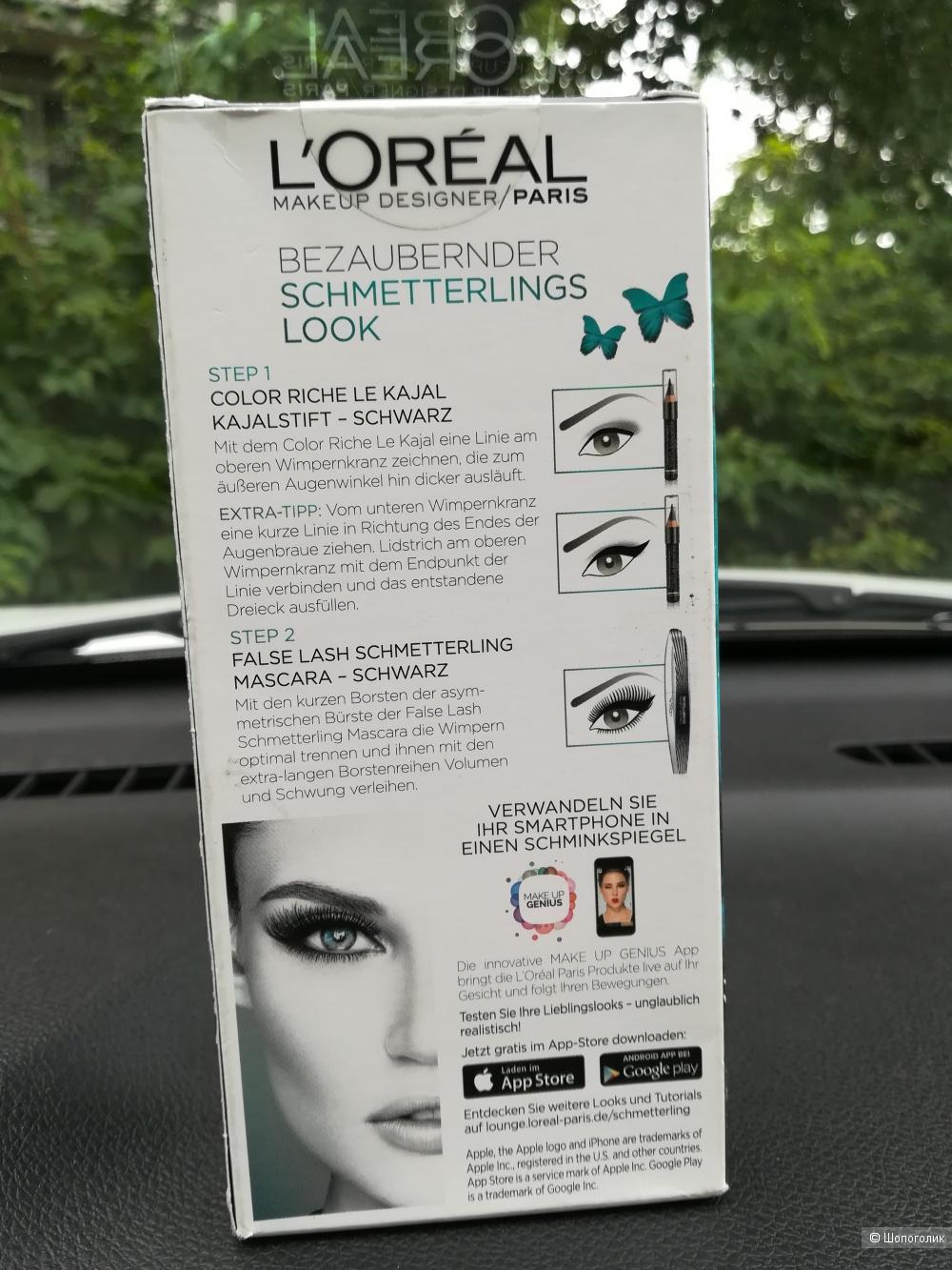 Набор L'Oréal тушь + карандаш